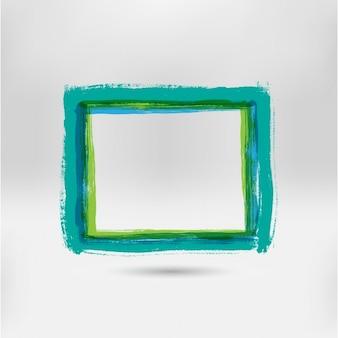 Cadre de l'aquarelle vert