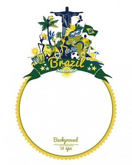 Cadre arrondi du brésil