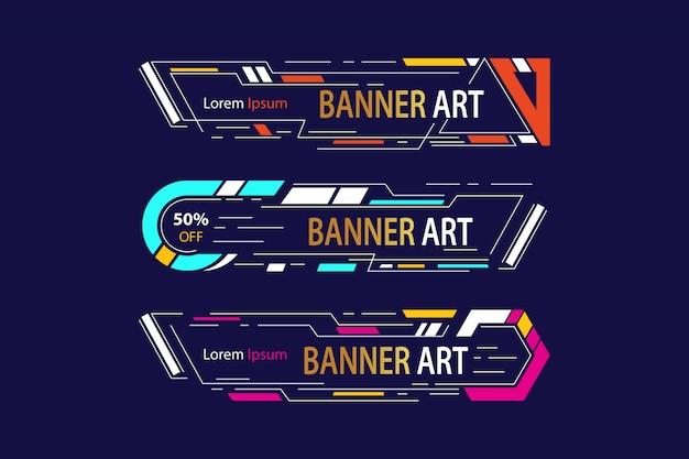 Cadre d'art bannière