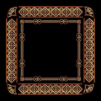 Cadre art déco géométrique abstrait décoratif