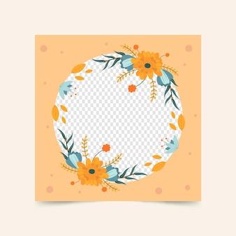 Cadre avatar facebook floral