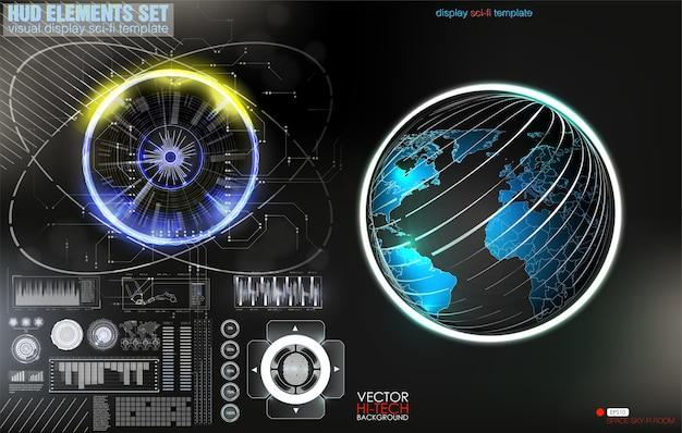 Cadre d'avertissement. conception de technologie abstraite cadre futuriste bleu et rouge dans la modernité