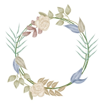 Cadre de bague fleur aquarelle