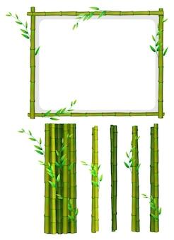 Cadre en bambou et bâtonnets de bambou