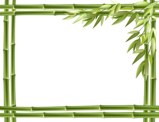 Cadre en bambou. vecteur