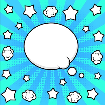 Cadre de bande dessinée lumineux pour texte. style pop art.
