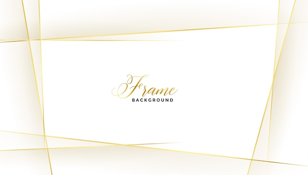 Cadre de belles lignes dorées sur fond blanc
