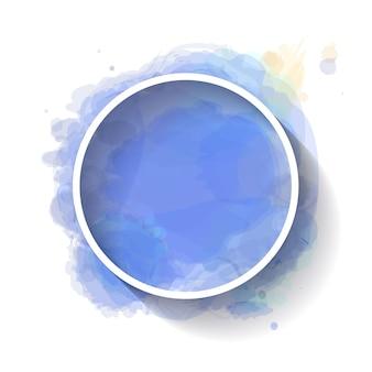 Cadre blanc minimaliste avec aquarelle