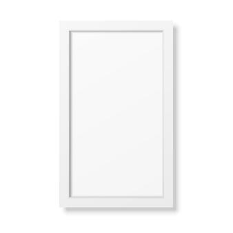 Cadre blanc réaliste