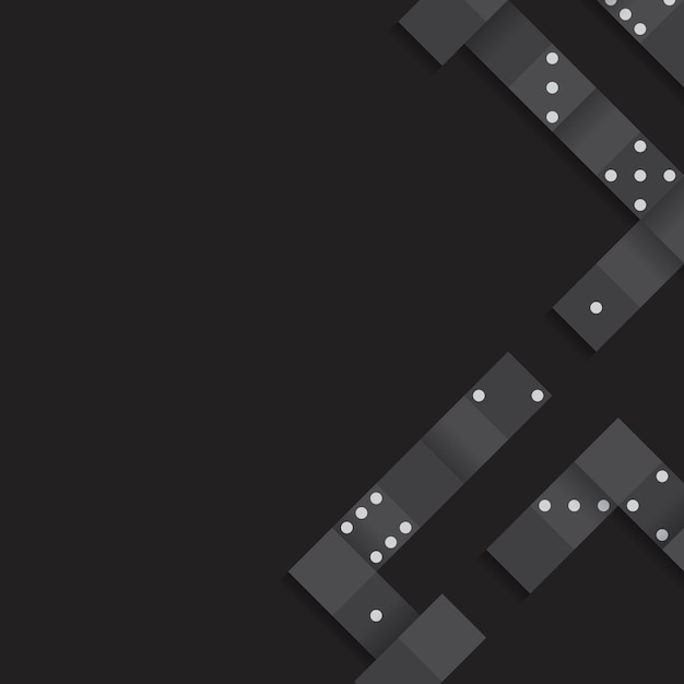 Cadre de blocs noirs sur le vecteur de fond noir blanc