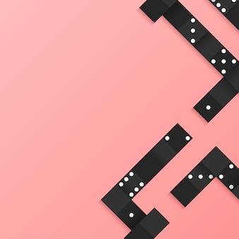 Cadre de blocs noirs sur le vecteur de fond rose blanc