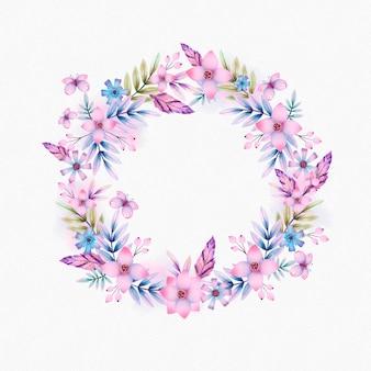 Cadre boho floral aquarelle peint à la main