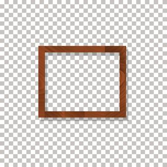 Cadre en bois sur le fond transparent vector.