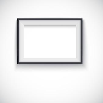 Cadre en bois horizontal de vecteur pour images ou photo.
