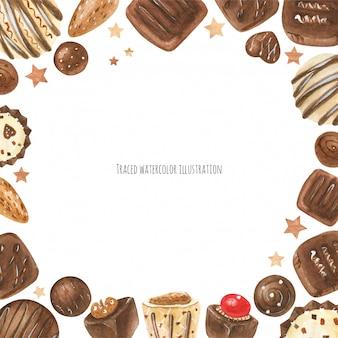 Cadre de bonbons au chocolat