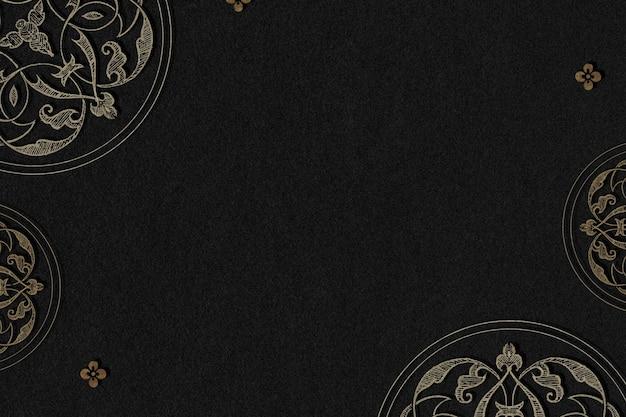 Cadre de bordure en filigrane d'or
