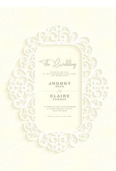 Cadre et bordure d'invitation de mariage royal