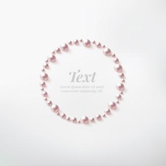 Cadre de bordure perle avec espace pour le texte.