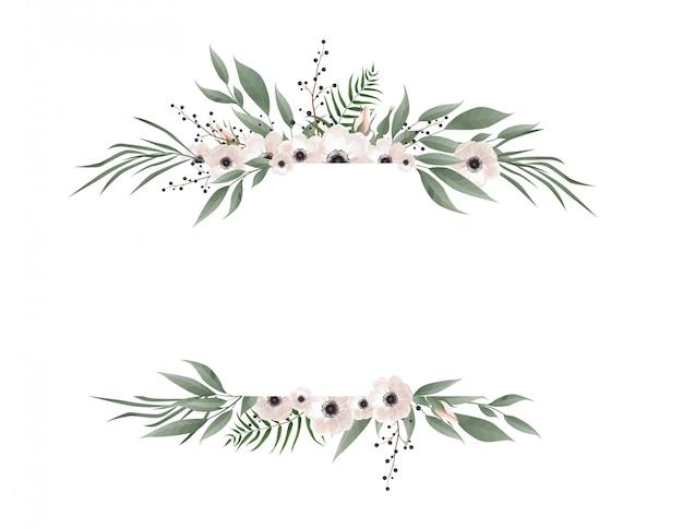 Cadre botanique horizontal