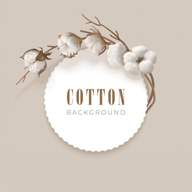 Cadre avec branche de coton