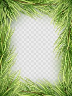 Cadre De Branche De Sapin De Noël. Vecteur Premium