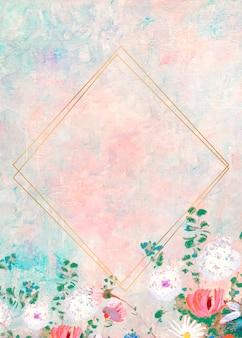 Cadre sur un cadre d'art pastel