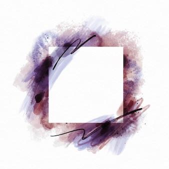 Cadre carré aquarelle abstraite