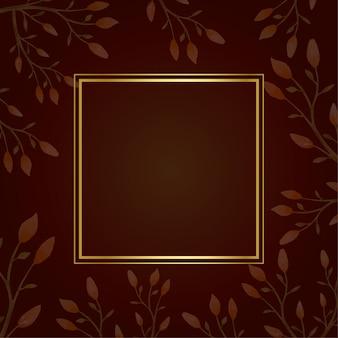 Cadre carré doré en automne