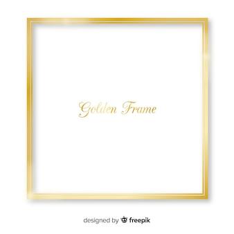 Cadre carré doré réaliste