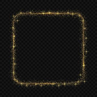 Cadre carré avec effet de lumière magic light