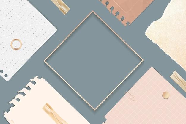 Cadre carré de notes déchirées
