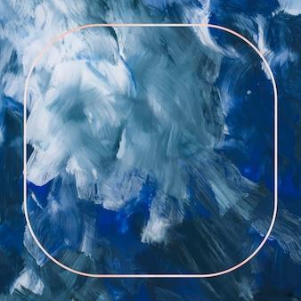 Cadre carré or sur fond abstrait