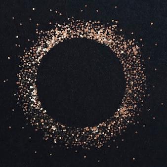 Cadre cercle en bronze poussiéreux
