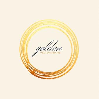 Cadre cercle doré