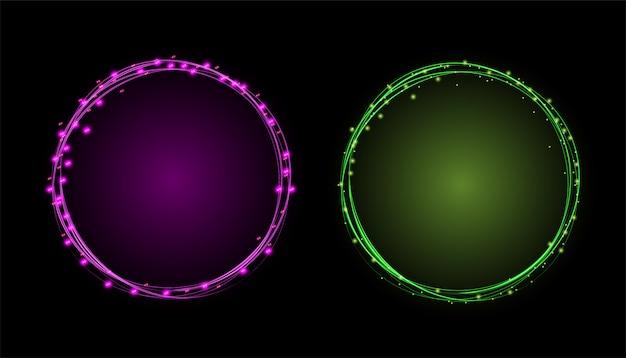 Cadre cercle effet de lumière