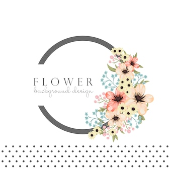Cadre de cercle avec des fleurs