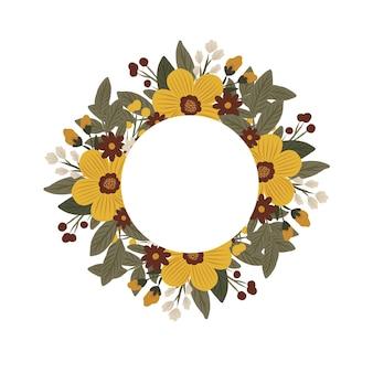 Cadre de cercle floral