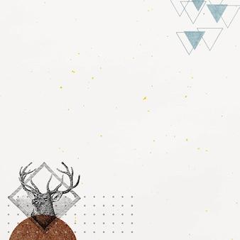 Cadre de cerf géométrique vierge