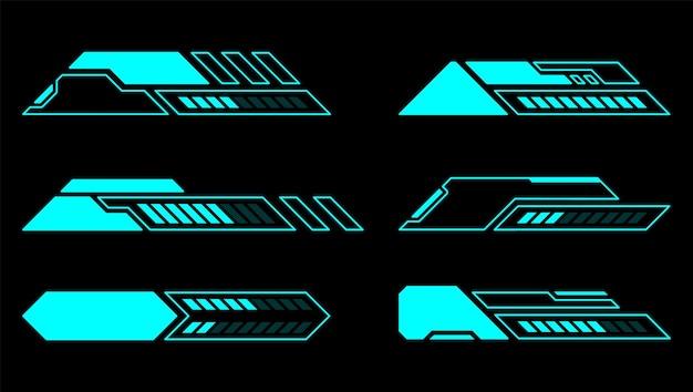 Cadre de chargement technologie abstraite interface hud conception vectorielle pour jeu numérique