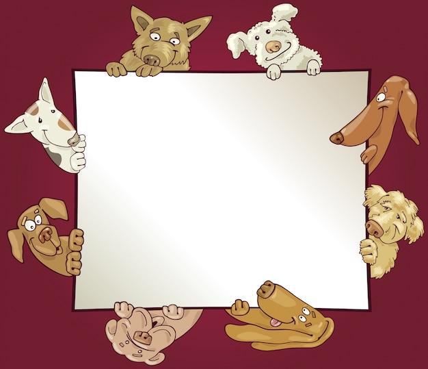 Cadre avec des chiens