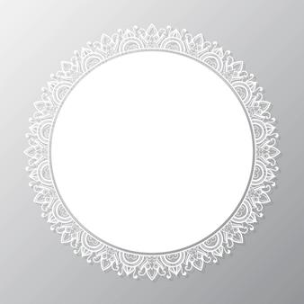 Cadre circulaire mandala