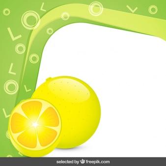 Cadre avec des citrons
