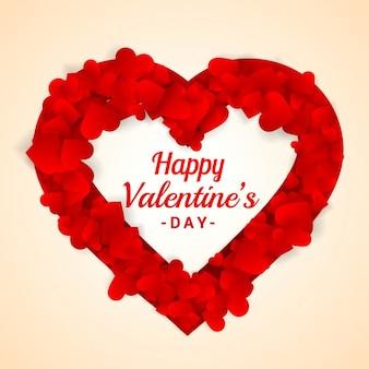 Cadre de coeur pour saint valentin