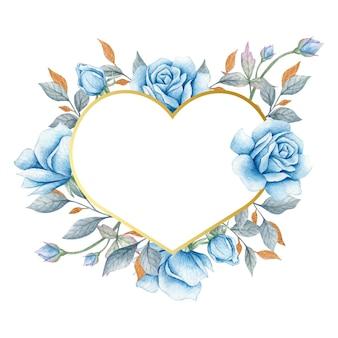 Cadre coeur saint valentin dessiné à la main