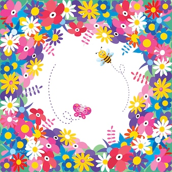 Cadre coloré pour la journée des enfants heureux