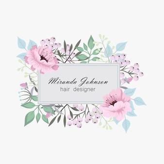Cadre de conception de vecteur floral de mariage délicat