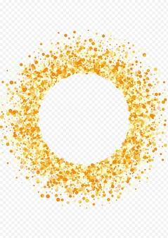 Cadre de confettis doré