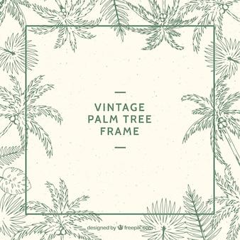 Cadre avec des croquis de palmiers