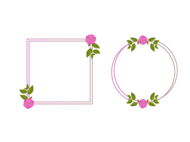 Cadre décoratif avec floral