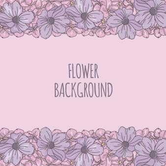 Cadre décoratif de fond de fleur
